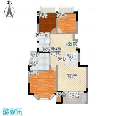 虹桥宝龙城95.00㎡E1户型3室2厅