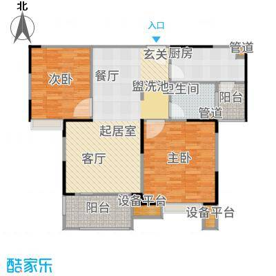 虹桥宝龙城86.00㎡A&apos-2户型2室2厅