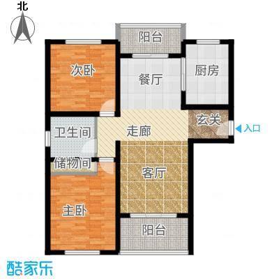 美兰金色宝邸101.00㎡A户型2室2厅