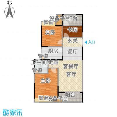 中金海棠湾104.00㎡A4户型3室2厅