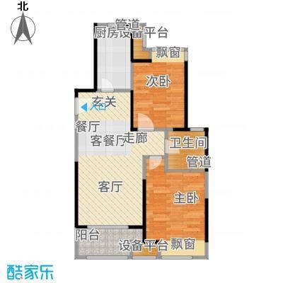 中金海棠湾89.00㎡A3户型2室2厅