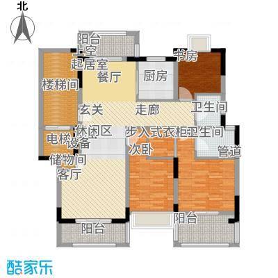 保集澜湾123.00㎡三居户型3室2厅