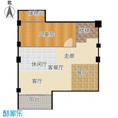 三盛松江颐景园175.00㎡三居户型3室2厅