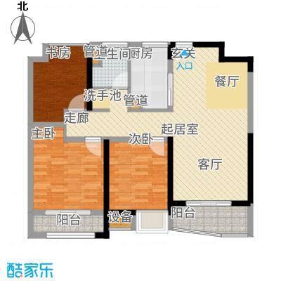 浦东颐景园88.00㎡A1户型3室2厅