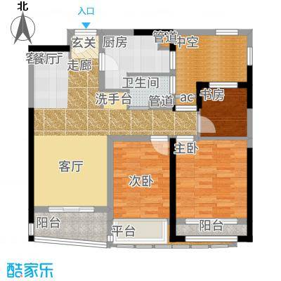 浦东颐景园88.00㎡A2户型3室2厅