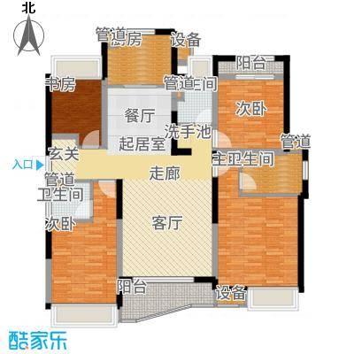 浦东颐景园127.00㎡C2户型4室2厅