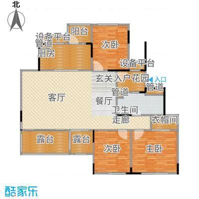 万科时一区117.00㎡5楼边套户型3室2厅