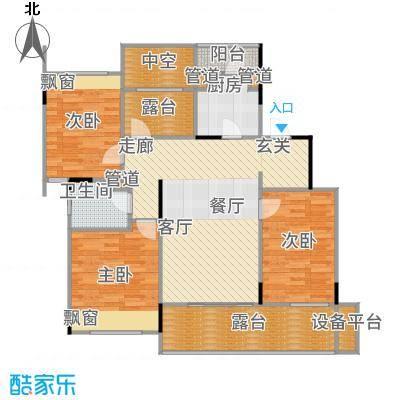 万科时一区112.00㎡5楼中间套户型3室2厅