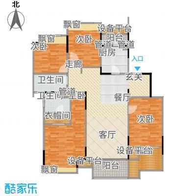 万科时一区147.00㎡2楼中间套户型4室2厅