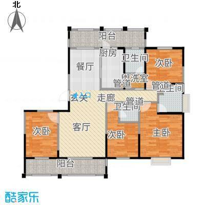 新江湾中凯城市之光95.00㎡二居户型3室2厅