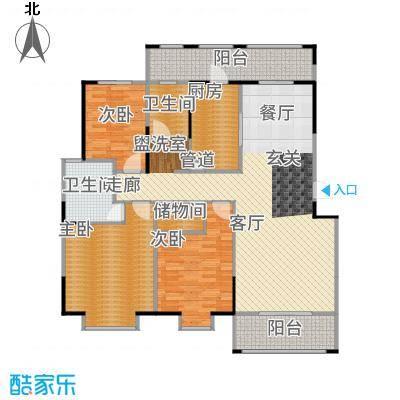 新江湾中凯城市之光140.00㎡B1-1户型3室2厅