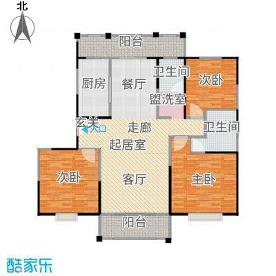 新江湾中凯城市之光143.00㎡三居户型3室2厅