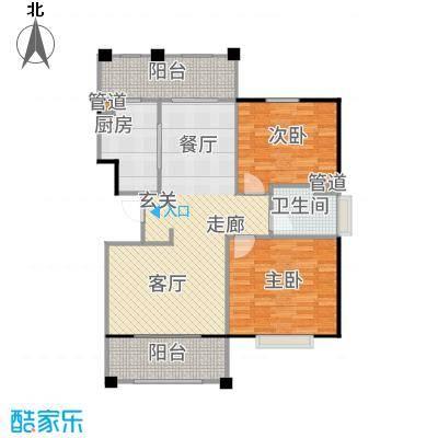 新江湾中凯城市之光97.00㎡二居户型2室2厅
