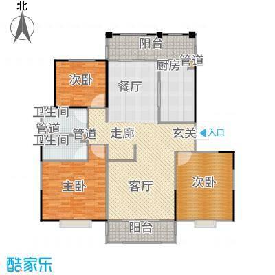 新江湾中凯城市之光140.00㎡二居户型2室2厅