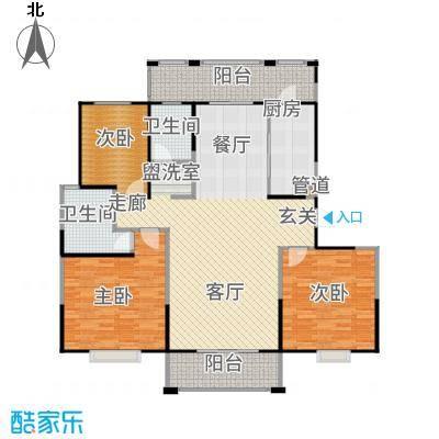 新江湾中凯城市之光140.00㎡B3-1户型3室2厅