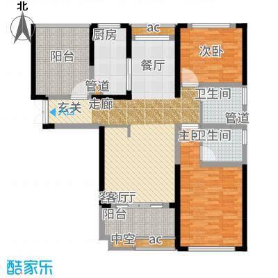 中科苑113.00㎡12、15、18号楼户型2室2厅