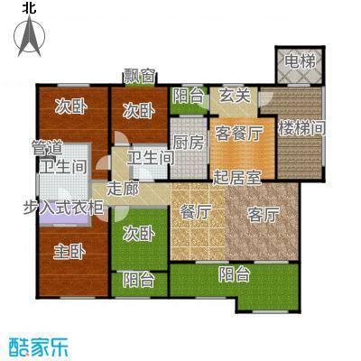 绿城玉兰公馆169.00㎡大平层D5a′户型4室2厅