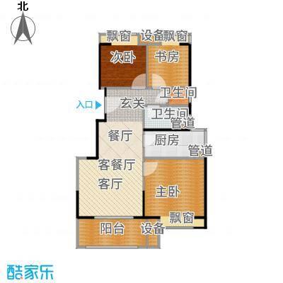 三盛松江颐景园88.00㎡A12+户型3室2厅