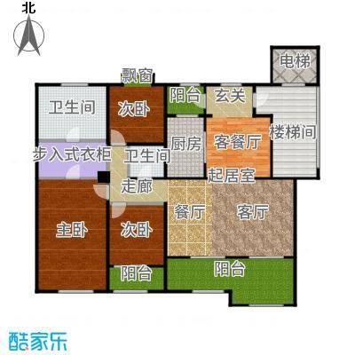 绿城玉兰公馆169.00㎡大平层D5a户型3室2厅