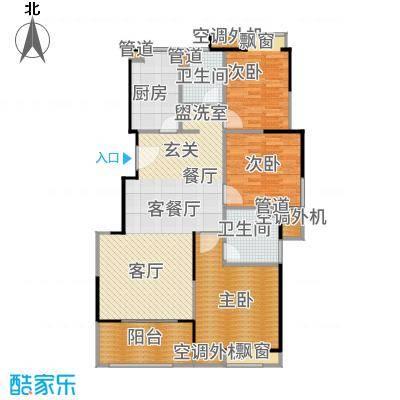 三盛松江颐景园115.00㎡A2户型3室2厅