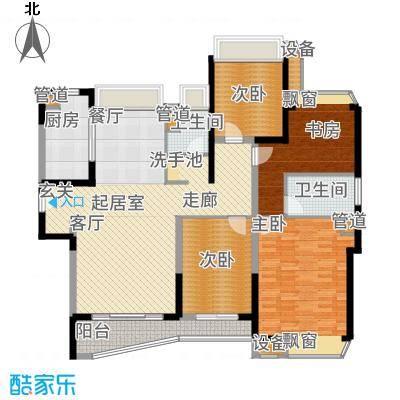 浦东颐景园140.00㎡D1户型4室2厅