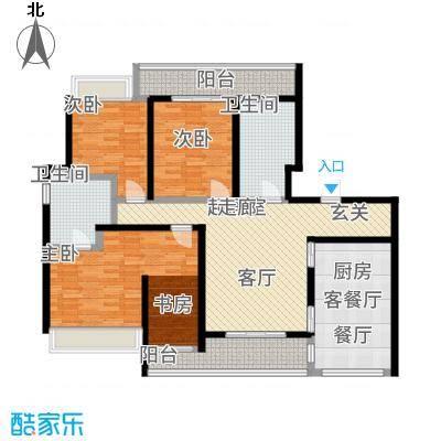 陆家嘴锦绣前城140.00㎡一期户型3室2厅