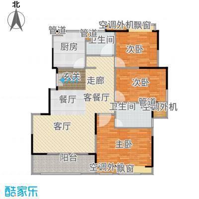 三盛松江颐景园118.00㎡三居户型3室1厅