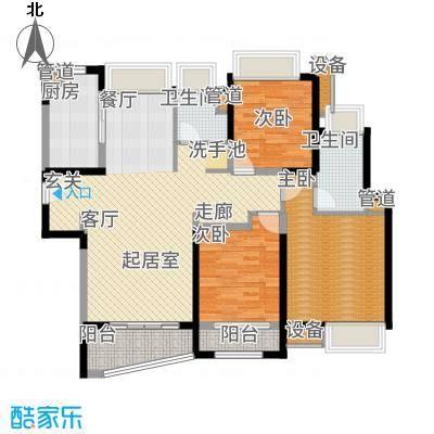 浦东颐景园113.00㎡B1户型3室2厅