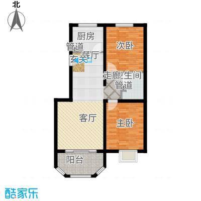 金海依云小镇91.00㎡二期洋房B(中两居)户型2室2厅