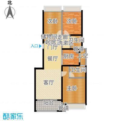建发公园首府115.00㎡B户型3室2厅