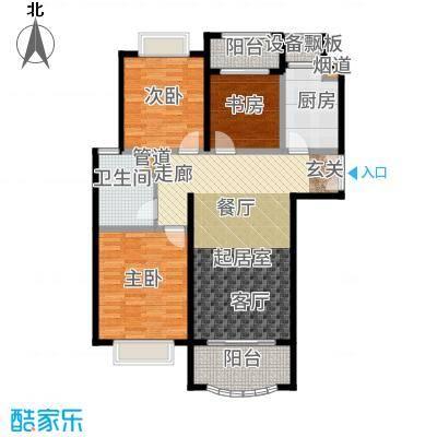 中盛星·河湾95.00㎡C户型3室2厅