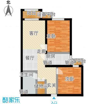 中国铁建环保嘉苑88.60㎡户型2室2厅