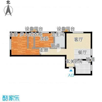 北京城建·畅悦居82.00㎡D1、D2号楼B4户型2室1厅