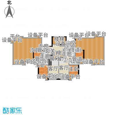 紫峰·九院城84.00㎡一期E户型2室2厅