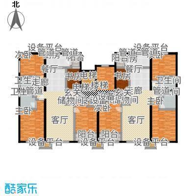 紫峰·九院城135.00㎡一期F1、F2户型4室2厅