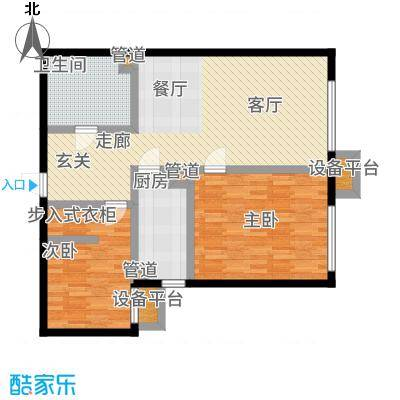 北京城建·畅悦居85.00㎡D1、D2号楼B1户型2室1厅