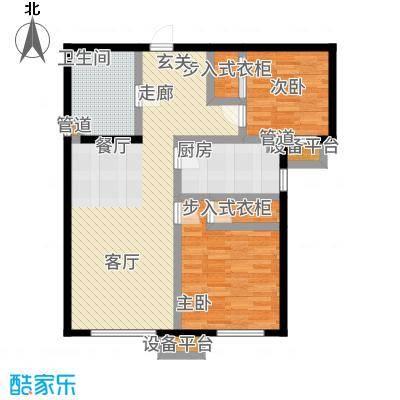 北京城建·畅悦居85.00㎡D1、D2号楼B1户型2室2厅