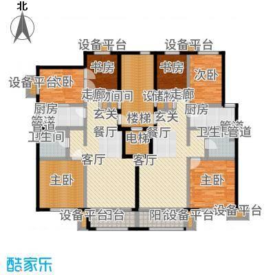 紫峰·九院城95.00㎡一期B1、B2户型3室2厅