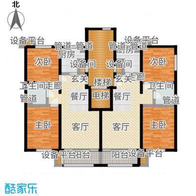 紫峰·九院城85.00㎡一期A1、A2户型2室1厅