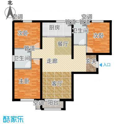首创·悦都汇122.00㎡首创孙村自住商品房C户型3室2厅