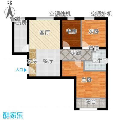 首创·悦都汇88.00㎡首创孙村自住商品房B户型2室2厅