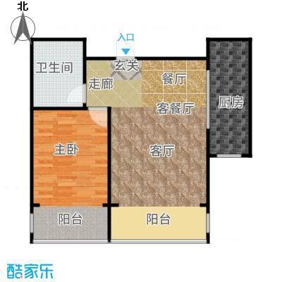 裕隆公寓二期81.00㎡户型1室2厅