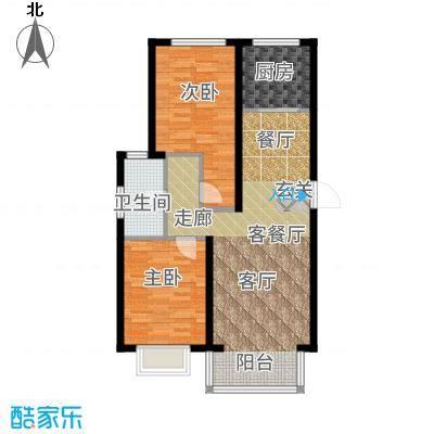 裕隆公寓二期103.81㎡D户型2室1厅
