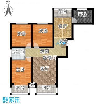 裕隆公寓二期136.00㎡B1户型3室2厅