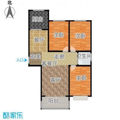 裕隆公寓二期129.20㎡F户型3室2厅
