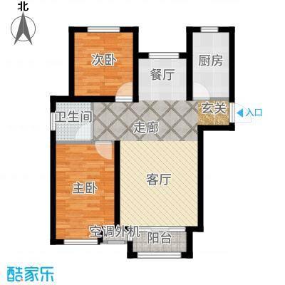 阳光心屿88.69㎡2号楼A1户型2室2厅