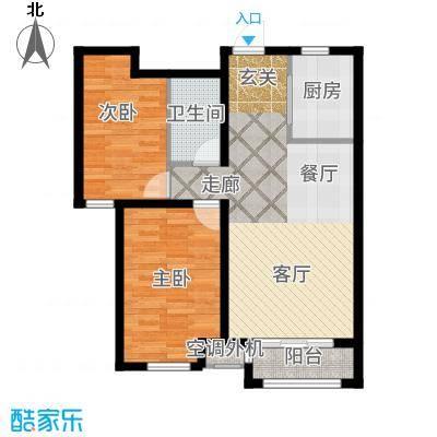 阳光心屿91.99㎡2号楼A2户型2室2厅
