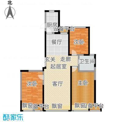 京贸国际公馆115.00㎡一期7号楼2户型2室2厅