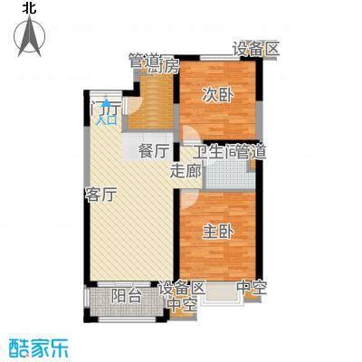 金隅香溪家园90.00㎡B-2户型2室2厅