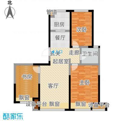 京贸国际公馆90.00㎡一期5号楼1户型3室2厅